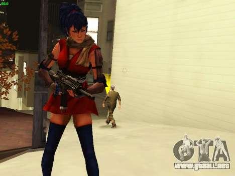 Juliet Starling para GTA San Andreas quinta pantalla