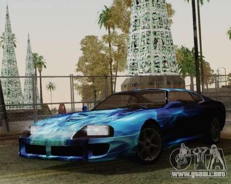 Los trabajos de pintura de bufón para GTA San Andreas vista posterior izquierda