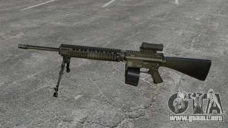 Rifle de asalto M16A4 C-MAG alcance para GTA 4 tercera pantalla