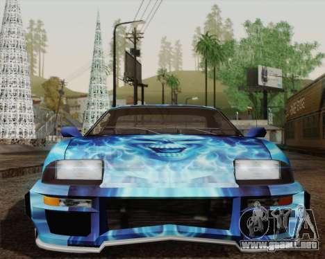 Los trabajos de pintura de bufón para GTA San Andreas vista hacia atrás