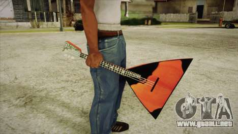 Balalaika para GTA San Andreas tercera pantalla
