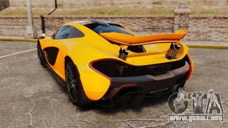 McLaren P1 2014 [EPM] para GTA 4 Vista posterior izquierda