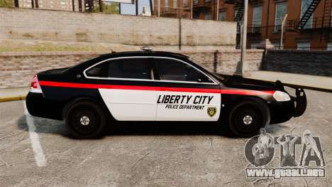 Chevrolet Impala 2008 LCPD STL-K Force [ELS] para GTA 4 left