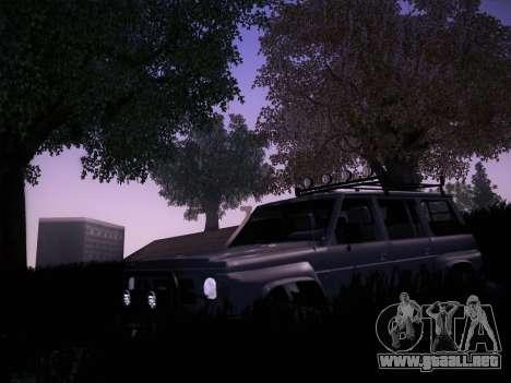 Nissan Patrol GR 1991 para GTA San Andreas vista hacia atrás