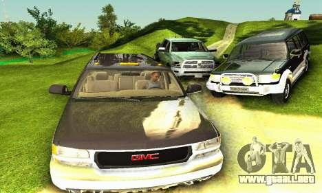 GMC Yukon XL 2003 para GTA San Andreas vista hacia atrás