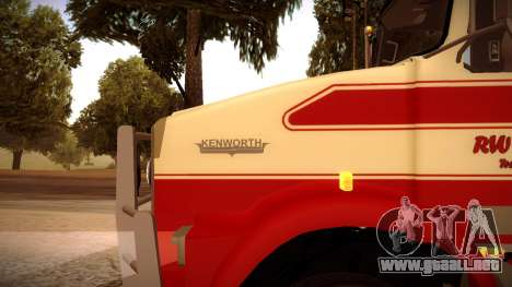 Kenworth RoadTrain T800 para GTA San Andreas left