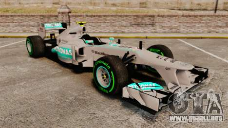Mercedes AMG F1 W04 v4 para GTA 4
