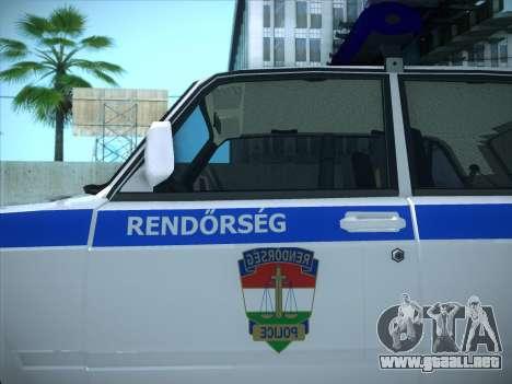 Rendőrség LADA 2107 para GTA San Andreas vista posterior izquierda