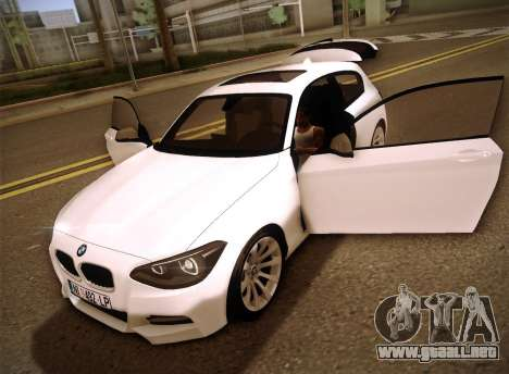 BMW M135i para la vista superior GTA San Andreas