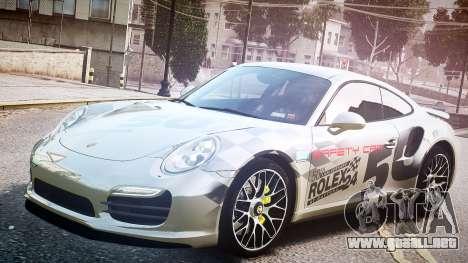 Porsche 911 Turbo 2014 para GTA 4 vista hacia atrás