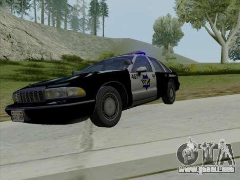 Chevrolet Caprice SFPD 1991 para la vista superior GTA San Andreas