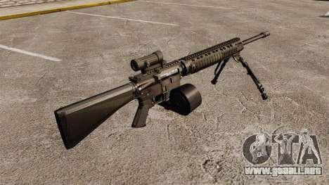 Rifle de asalto M16A4 C-MAG alcance para GTA 4 segundos de pantalla