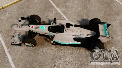 Mercedes AMG F1 W04 v3 para GTA 4 visión correcta