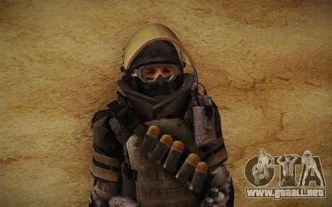COD MW3 Heavy Commando para GTA San Andreas sexta pantalla