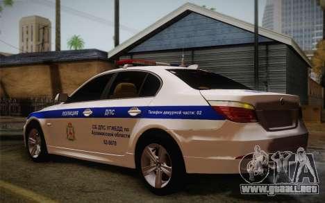 BMW 530xd DPS para la visión correcta GTA San Andreas