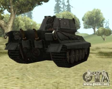 PzKpfw VIB Tiger II para GTA San Andreas vista hacia atrás