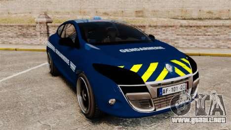 Renault Megane RS Gendarmerie Nationale [ELS] para GTA 4