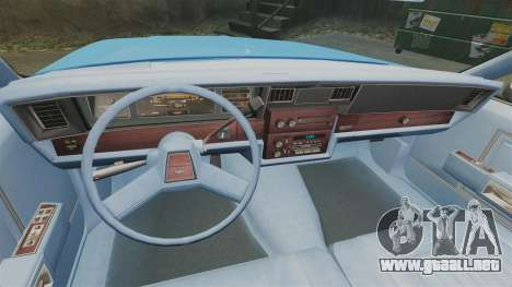 Chevrolet Caprice 1987 LCPD para GTA 4 vista hacia atrás