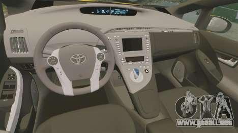 Toyota Prius 2011 Adelaide Yellow Taxi para GTA 4 vista interior