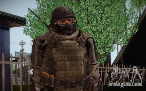 COD MW3 Heavy Commando para GTA San Andreas segunda pantalla