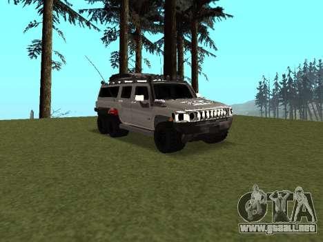 Hummer H3 6x6 para visión interna GTA San Andreas