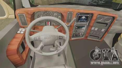 GMC Business superstar para GTA 4 vista hacia atrás