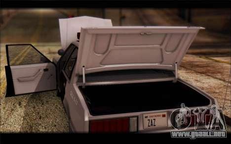 Ford Fairmont 1978 4dr Police para visión interna GTA San Andreas