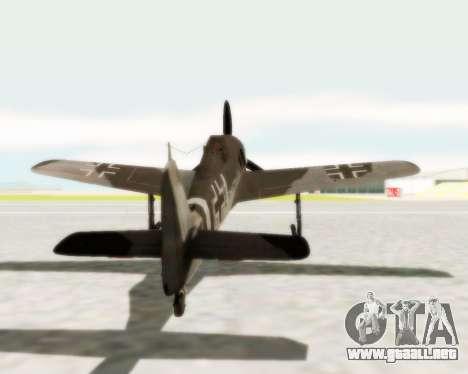 Focke-Wulf FW-190 A5 para la visión correcta GTA San Andreas