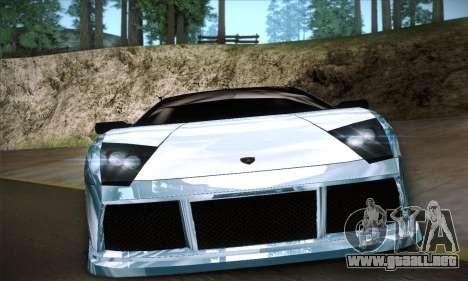 Lamborghini Murcielago GT Coloured para visión interna GTA San Andreas