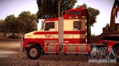 Kenworth RoadTrain T800 para GTA San Andreas vista posterior izquierda