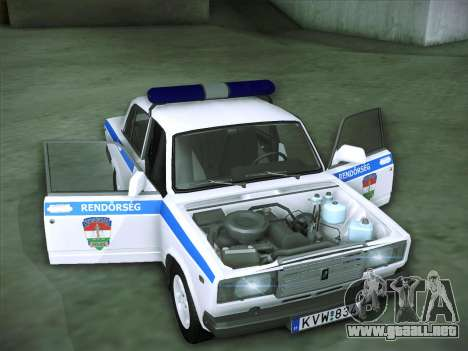 Rendőrség LADA 2107 para vista lateral GTA San Andreas