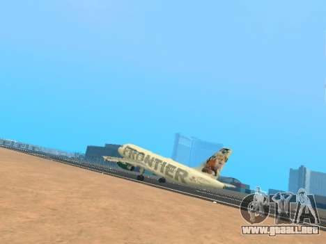 Airbus A319-111 Frontier Airlines Red Foxy para GTA San Andreas interior
