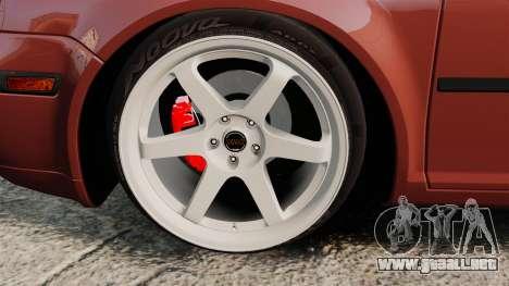 Volkswagen Bora VR6 2003 para GTA 4 vista hacia atrás