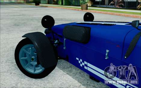 Caterham R500 Superlight 2008 para GTA San Andreas vista posterior izquierda