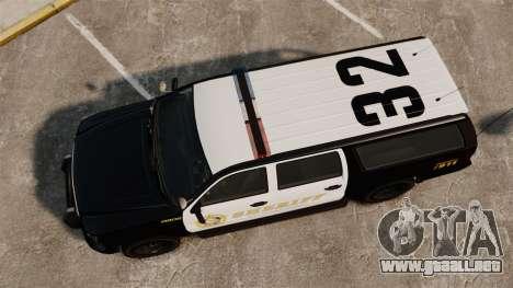 GTA V Declasse Granger Sheriff para GTA 4 visión correcta