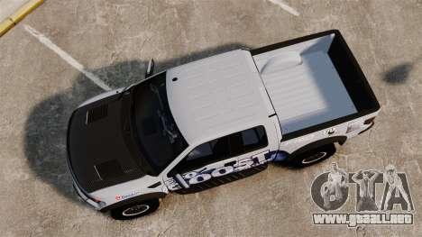 Ford F-150 SVT Raptor 2011 ECOBoost para GTA 4 visión correcta