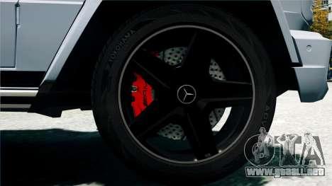 Mercedes-Benz G65 AMG 2013 para GTA 4 vista interior