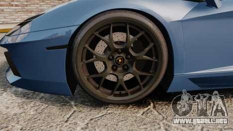 Lamborghini Aventador LP760-4 Oakley Edition v2 para GTA 4 vista hacia atrás
