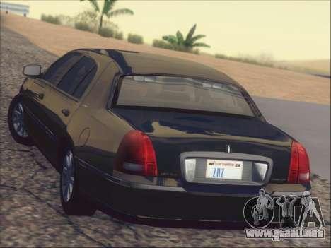 Lincoln Town Car 2010 para GTA San Andreas interior