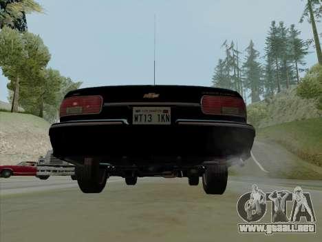 Chevrolet Caprice SFPD 1991 para visión interna GTA San Andreas
