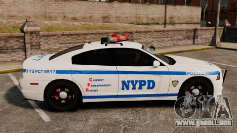 Dodge Charger 2012 NYPD [ELS] para GTA 4 left