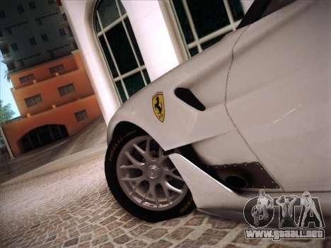 Ferrari 599XX 2012 para GTA San Andreas interior