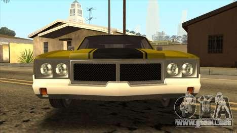 Sabre HD from GTA 3 para GTA San Andreas vista posterior izquierda