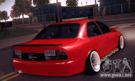 Proton Wira Hype para GTA San Andreas vista hacia atrás