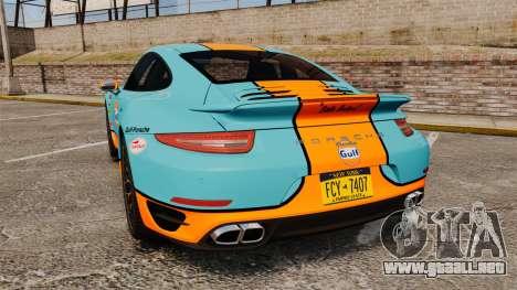 Porsche 911 Turbo 2014 [EPM] Gulf para GTA 4 Vista posterior izquierda