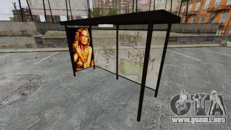 Nueva publicidad en paradas de autobús para GTA 4 segundos de pantalla