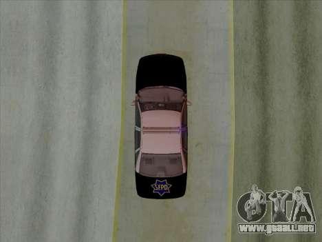 Chevrolet Caprice SFPD 1991 para GTA San Andreas vista hacia atrás
