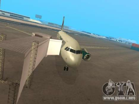 Airbus A319-111 Frontier Airlines Red Foxy para vista inferior GTA San Andreas