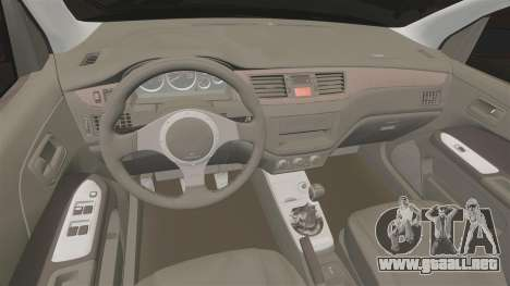 Mitsubitsi Lancer MR Evolution VIII 2004 Tuning para GTA 4 vista interior