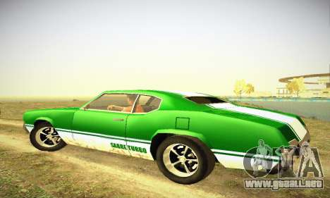 GTA IV Sabre Turbo para GTA San Andreas vista hacia atrás